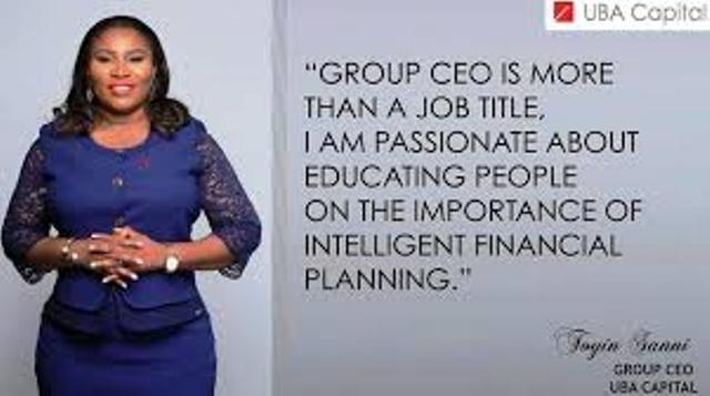 #WCW: Oluwatoyin Sanni Group CEO United Capital PLC