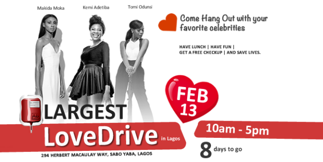 #LoveDrive: The Largest Blood Drive in Lagos!