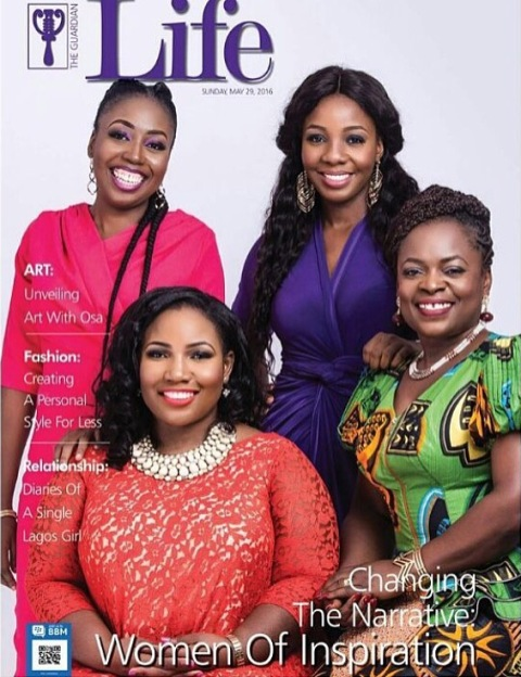 Glory Edozien, Omilola Oshikoya, Stephanie Obi and Itoro Eze-Anaba Cover Guardian Life