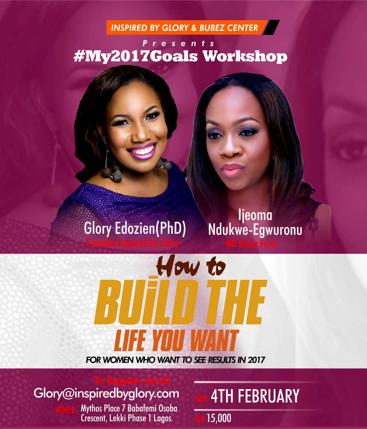 #My2017GoalsWorkshop- Build the Life you want in 2017 4th February 2017