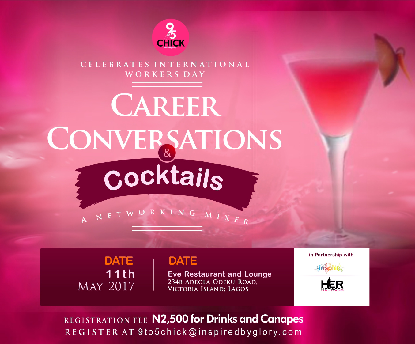 Career Conversations and Cocktails! The Premier Networking Event for Professional Women has arrived!