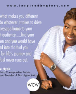 Find your Passion and you would have Tapped into the Fuel you Need for Life's Journey - Peace Hyde