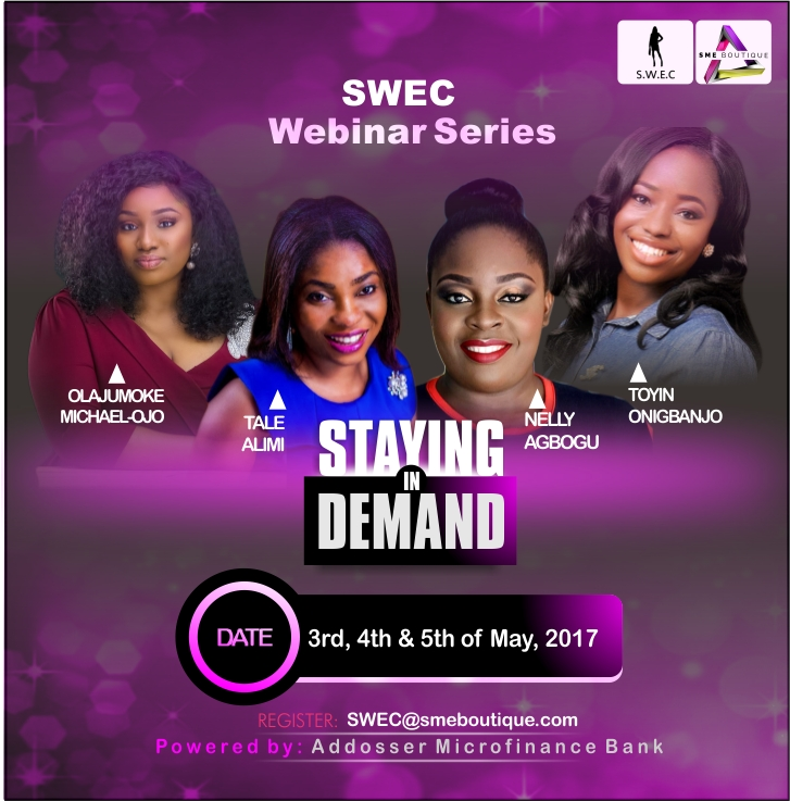Heads Up Female Entrepreneurs! SWEC Launches its Exciting New Webinar Series themed 'Staying in Demand'