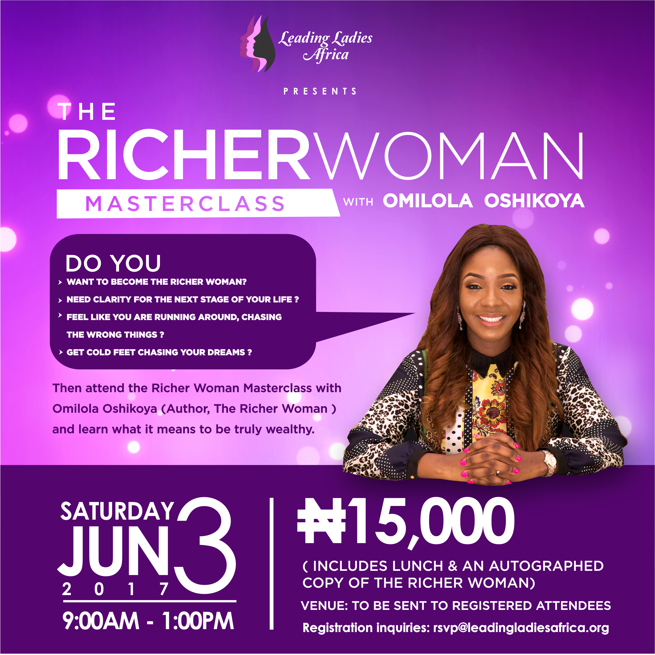 The Richer Woman Masterclass with Omilola Oshikoya