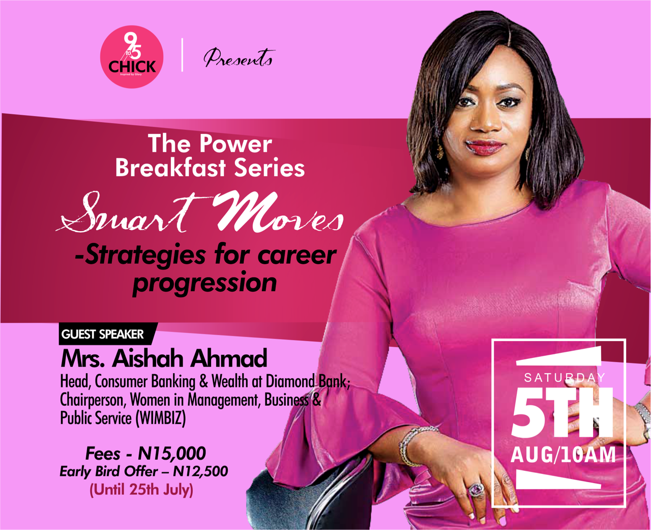 ​Hey 9to5chick are you ready to uplevel in your career? Then Attend our Power Breakfast Seminar