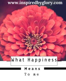 What Happiness Means To Me