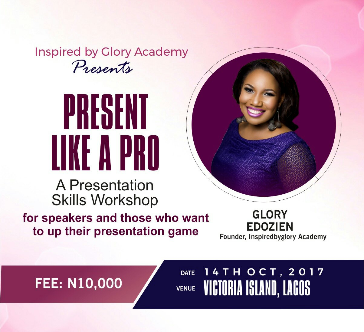 Gain the Skills to Present like a Pro- Attend our Presentation Skills Workshop 14th October 2017